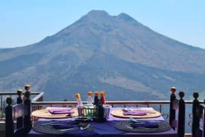 Mount Batur View From The Restaurant in Kintamani 120119